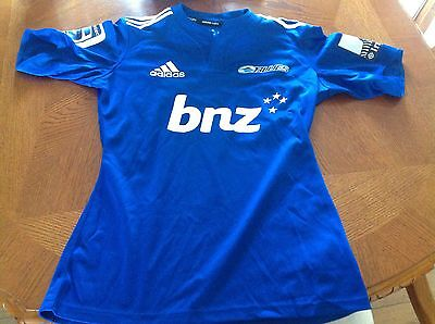 Rare Adidas Auckland Blues Super Rugby Shirt Jersey Player Issue