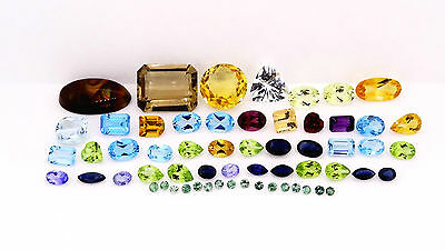 natural loose Mixed gems 50.49ct mixed parcel jewellery making loose gemstones