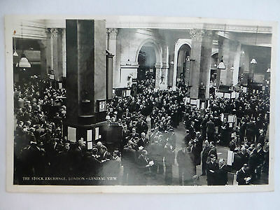 The Stock Exchange / General View - Old London Postcard