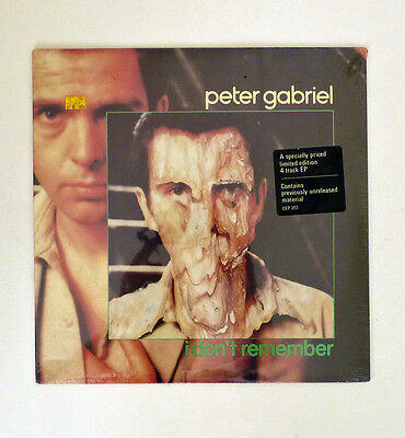 1980 PETER GABRIEL 4song EP I DON'T REMEMBER BIKO CANADA Import MINT SEALED LTD.