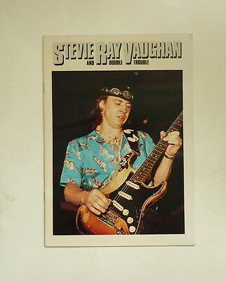 1984 Stevie Ray Vaughan Australia Tour Program Couldn't Stand The Weather  Srv