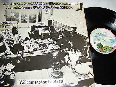 Traffic - Welcome To The Canteen, Orig Uk 1St Press, Island Pink Rim, Ex.
