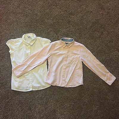 Lot Of Two Size 10 And 10/12 Uniform Tops Lands End And Old Navy
