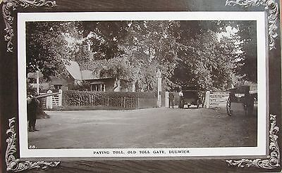 Paying Toll Old Toll Gate Dulwich London 1911 Rp Pc