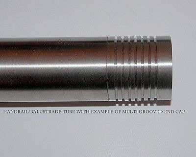 Handrail Wallrail Bannister Grab rail with Grooved End Caps cut to size required