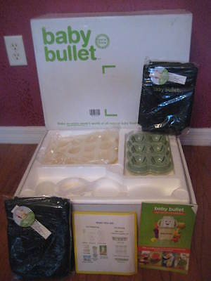 New BABY BULLET Baby Food Preparation System (by Magic Bullet) NIB