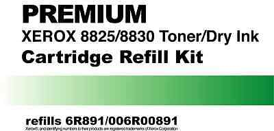2- Toner Refill Kits for Xerox 8825/8830 rep 6R891 or 006R00891 NEW FAST EASY