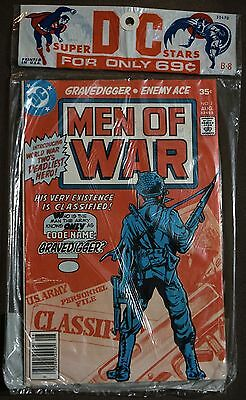 DC Super Stars B-8 Sealed Pac, MEN OF WAR #1 AND SGT. ROCK #307 Scarce
