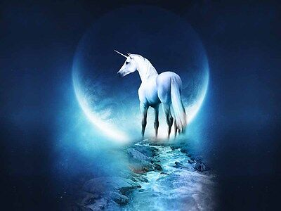 Fun Gift Home Art Wall Decor Moon Unicorn Oil Painting Picture Printed on canvas