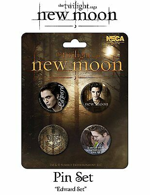 Twilight Edward Cullen Robert Pattinson New Moon 4 Buttons Pins Anstecker NECA