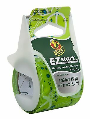 Duck EZ Start Frustration Free Prints in Green Peace Signs 1.88 in x 15 yd