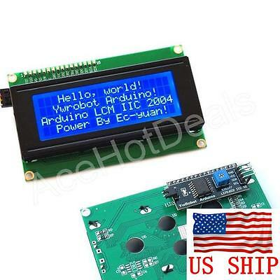 Blue Serial IIC/I2C/TWI 2004 204 20X4 Character LCD Module Display For Arduino
