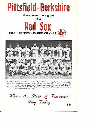 1966 Pittsfield Red Sox-Pawtucket Indians Eastern League Program NICE!!