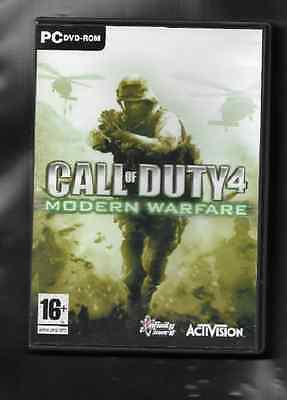 Used Pc Cd Rom Game, Call Of Duty 4 - Modern Warfare With Manual ,