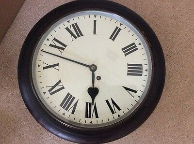 School Clock Antique full working order 12 inch dial English Fuzee movement