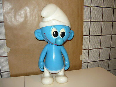 PUFFO GIGANTE PEYO IN PLASTICA MADE IN ITALY cm. 40 RUBBER TOY POUET