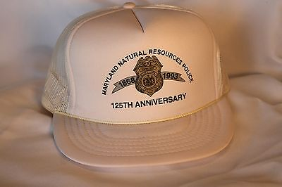 Vintage Maryland Natural Resources Police 125 th Aniv. Ball Cap,Box Shipped