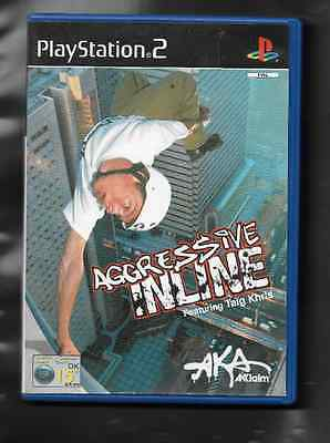 Used Ps2 Game - Aggressive Inline - Taig Khris, With Manual