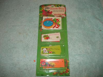 225 Vintage Christmas Cleo Yuletide Cheer Gift Wrapping Tags New