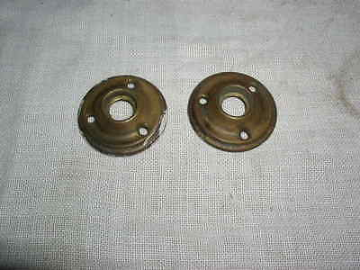 Lot of 2 Vintage Door Knob Round Back Plate