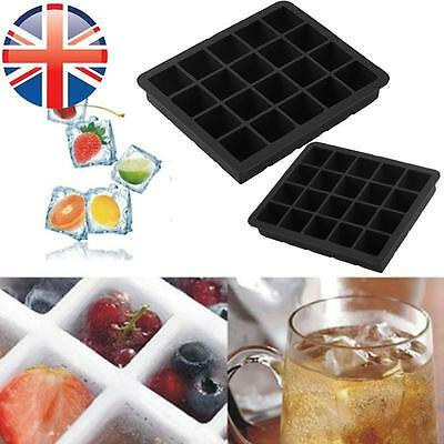 *UK Seller* Silicone 20 Cavity Large Square Ice Cube Tray Jelly Mold Mould