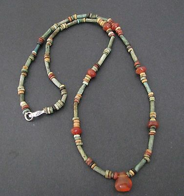 NILE  Ancient Egyptian Carnelian Mummy Bead Necklace ca 600 BC