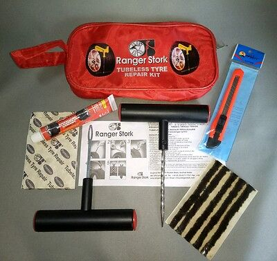 Tyre Repair Kit for emergency repair of Car/Van/SUV/Motorcycle Tubeless tyres