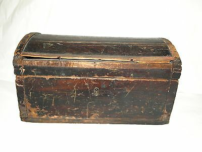 Primitive Antique Wooden Document Box - Mid 19th Century