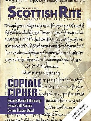 Scottish Rite Mason Magazine Mar-Apr 2012 Copiale Cipher Decoded Manuscript