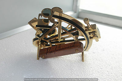 """Handmade Sextant 8"""" Working Solid Brass Astrolabe Ship Reproduction Cristmisgift"""