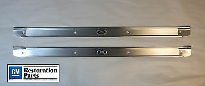 1968-1972 Buick Skylark GS & Special 2 door GM Licensed Sill Scuff Plates Pair