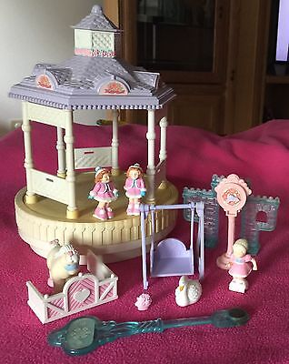 Lot Of Vintage Fisher Price Precious Places Musical Gazebo Ice Skaters Girls