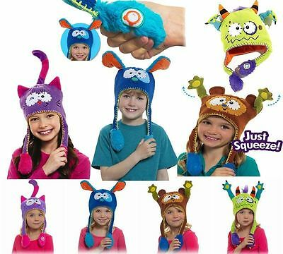 New Flipeez Squeeze Action Warm Knit Character Hats Kids Unisex Boys Girls