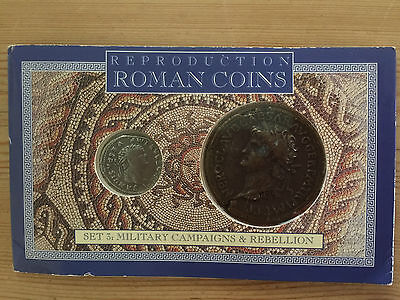ROMAN COINS reproduction set 3: Military campaigns & Rebellion