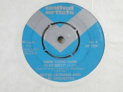 Michel Legrand Main Theme From Play Dirty 45 Uk United Artists 1968