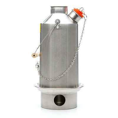 NEW Stainless Steel Base Camp (1.6L) Kelly Kettle, Basic Kit & our Value Deal