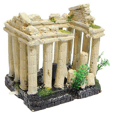 Ancient Columns Aquarium Fish Tank Ornament Decoration with Air Bubbles