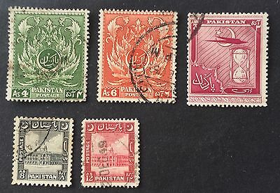 interesting lot old used stamps Pakistan (01)