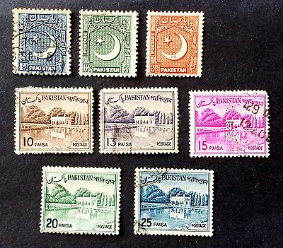 interesting lot old used stamps Pakistan (03)
