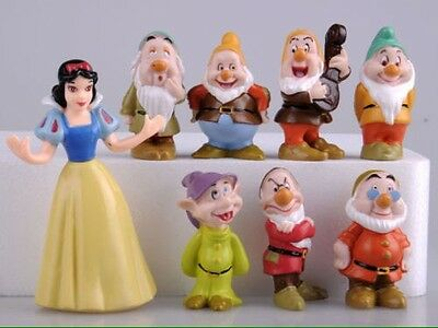 Snow White And The Seven Dwarfs Dwarves Disney 8pcs Set Figures PVC Cake Toppers