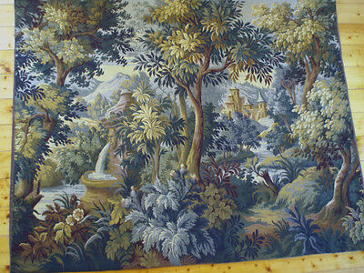 "A Stunning French Aubusson Verdure Style Wall Hanging/Tapestry(6 foot x 4' 9"")"