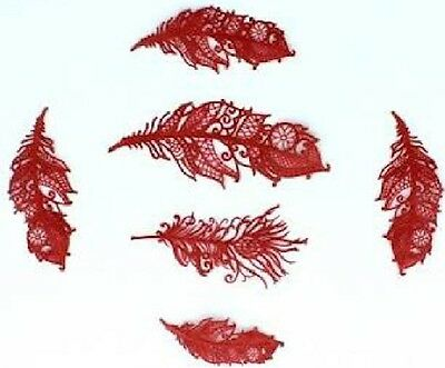 26 Pieces Set Of Edible Feathers - Cake Or Cupecakes Decorations