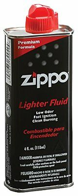 Zippo Warmer Fluid Lighter Fuel 4 Oz Bottle Less Odor pocket Flints Wick Premium