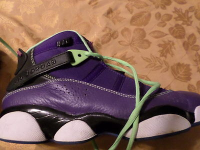 NIKE AIR JORDAN RETRO purple HIGH TOP BASKETBALL SHOES w/extra ankle support sz9