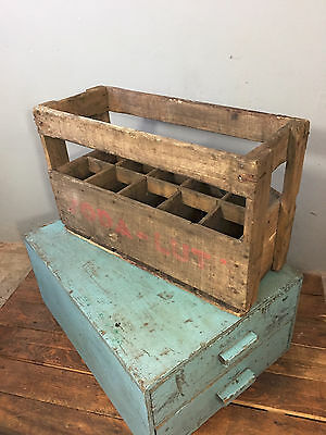 Vintage Retro French Wooden 'Soda-Lut', Beer, Wine Bottle Crate c 1960's, Rustic