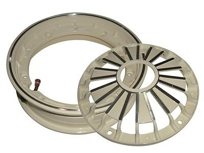 2.50/10 Inch Double Cream Tubeless Wheel Rim For Vespa Scooters - 6 Pieces