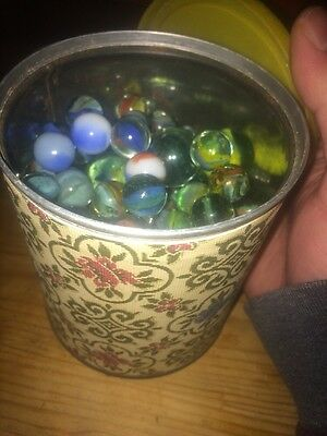 Lovely Selection Of 148 Vintage / Antique Glass Marbles