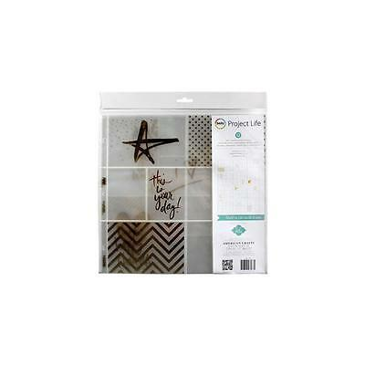 "Project Life - Photo Pocket Pages 12""X12"" 12/Pkg - Heidi Swapp -Gold Foil W/Stic"