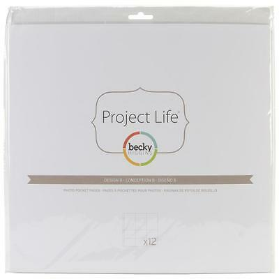 Project Life - Photo Pocket Pages 12/Pkg - Design B