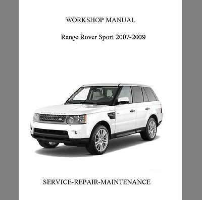 New Land Rover/range Rover Sport 2007-2009 Service Repair Manual